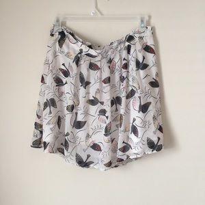 Old Navy bird print skirt
